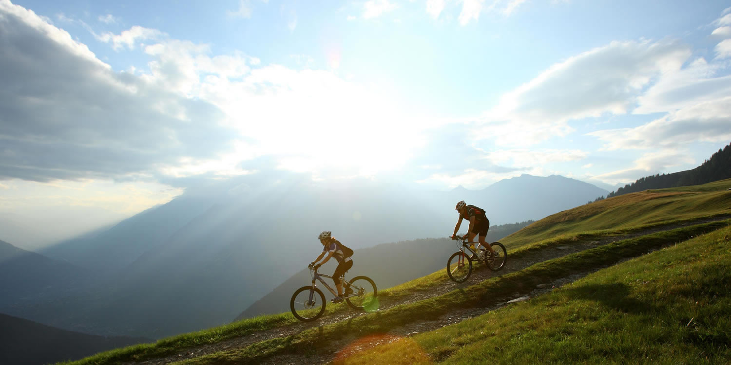 Mountainbiken in den Dolomiten - Weltnaturerbe